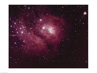 Framed Lagoon Nebula in Sagittarius