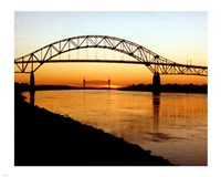 Framed Bourne Bridge over the Cape Cod Canal