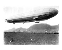 Framed Zeppelin Airship LZ 11 Viktoria Luise on May 5, 1912 in Marburg