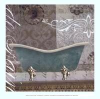 Framed Medallion Bath I - mini