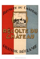 Framed Recolte Du Chateau