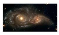 Framed Colliding Spiral Galaxies