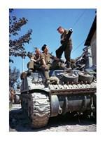 Framed Crew of a Sherman Tank