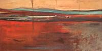 Framed Red Horizon II