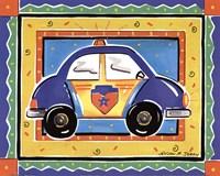 Framed Police Car