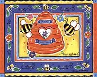 Framed Honeybees