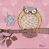 Framed Pastels Owls III - mini