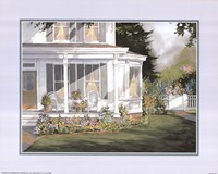 Framed Screened in Porch with Garden