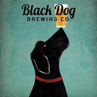 Framed Black Dog Brewing Co Square