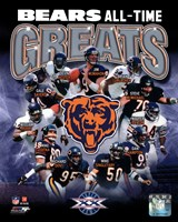 Framed Chicago Bears All-Time Greats Composite