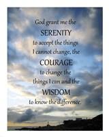 Framed Serenity Prayer - skies