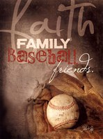 Framed Faith Family Baseball