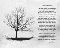 Framed Robert Frost The Road Not Taken