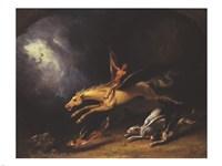 Framed Fox Hunter's Dream