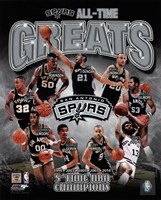 Framed San Antonio Spurs All-Time Greats Composite