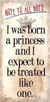 Framed Born a Princess