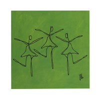 Framed Love - Green Dancers