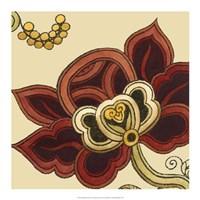 Framed Paprika Floral II