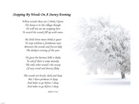 Framed Stopping by Woods on a Snowy Evening by Robert Frost