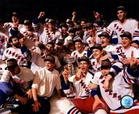 Framed New York Rangers 1994 Stanley Cup Champions Team Celebration