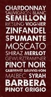 Framed Wine List III