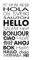 Framed Hello Languages