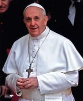 Framed Pope Francis I, Cardinal Jorge Mario Bergoglio  in Rome, March 14, 2013