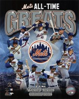 Framed New York Mets All Time Greats Composite