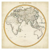 Framed 1812 Eastern Hemisphere
