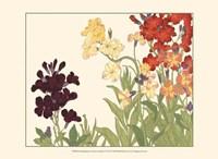 Framed Small Japanese Flower Garden I