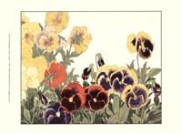Framed Small Japanese Flower Garden V