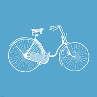 Framed Blue Bicycle