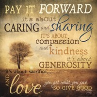 Framed Meaning of Pay It Forward