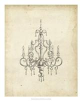 Framed Classical Chandelier III