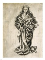 Framed Standing Female Saint
