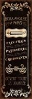 Framed Parisian Signs Panel - I