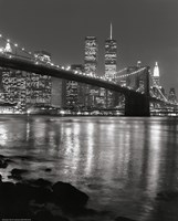 Framed Brooklyn Bridge at Night