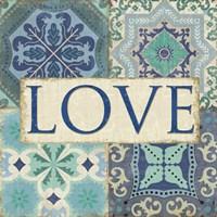 Framed Santorini I - Love
