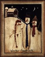 Framed Winter Greetings