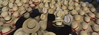 Framed High Angle View Of Hats In A Market Stall, San Francisco El Alto, Guatemala