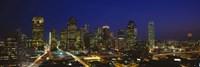 Framed Buildings at Night, Dallas, Texas