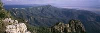 Framed Sandia Mountains, Albuquerque, New Mexico, USA
