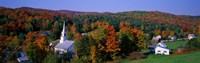 Framed Autumn, Waits River, Vermont, USA