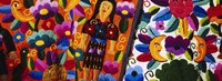Framed Close-Up Of Textiles, Guatemala