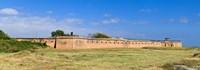 Framed Fort Gaines on Dauphin Island, Alabama, USA