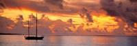 Framed Boat at sunset