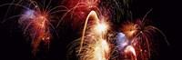 Framed Fireworks Display, Banff, Alberta, Canada