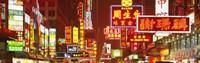Framed Downtown Hong Kong at Night, China