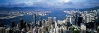 Framed Hong Kong with Cloudy Sky, China