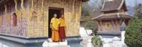 Framed Monks Wat Xien Thong Luang Prabang Laos